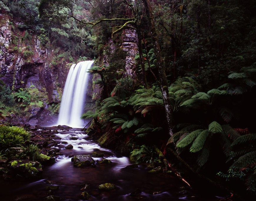 Hopetoun Falls is located near Beech Forest, Victoria, Australia
