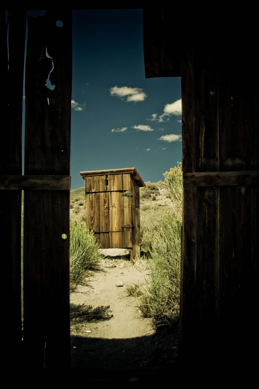 outhouse in bodie