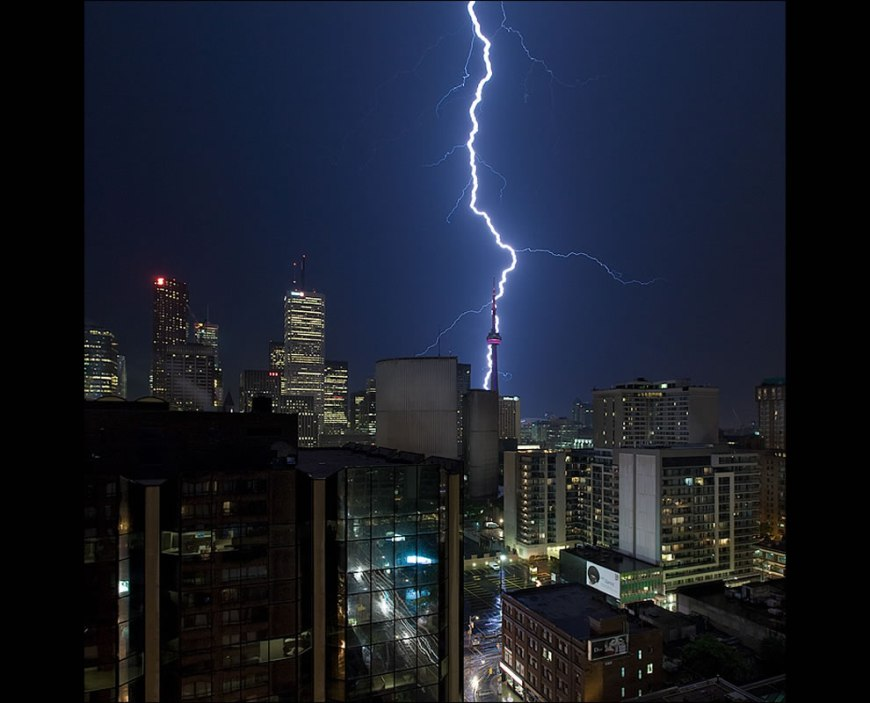 Toronto lightning and tower