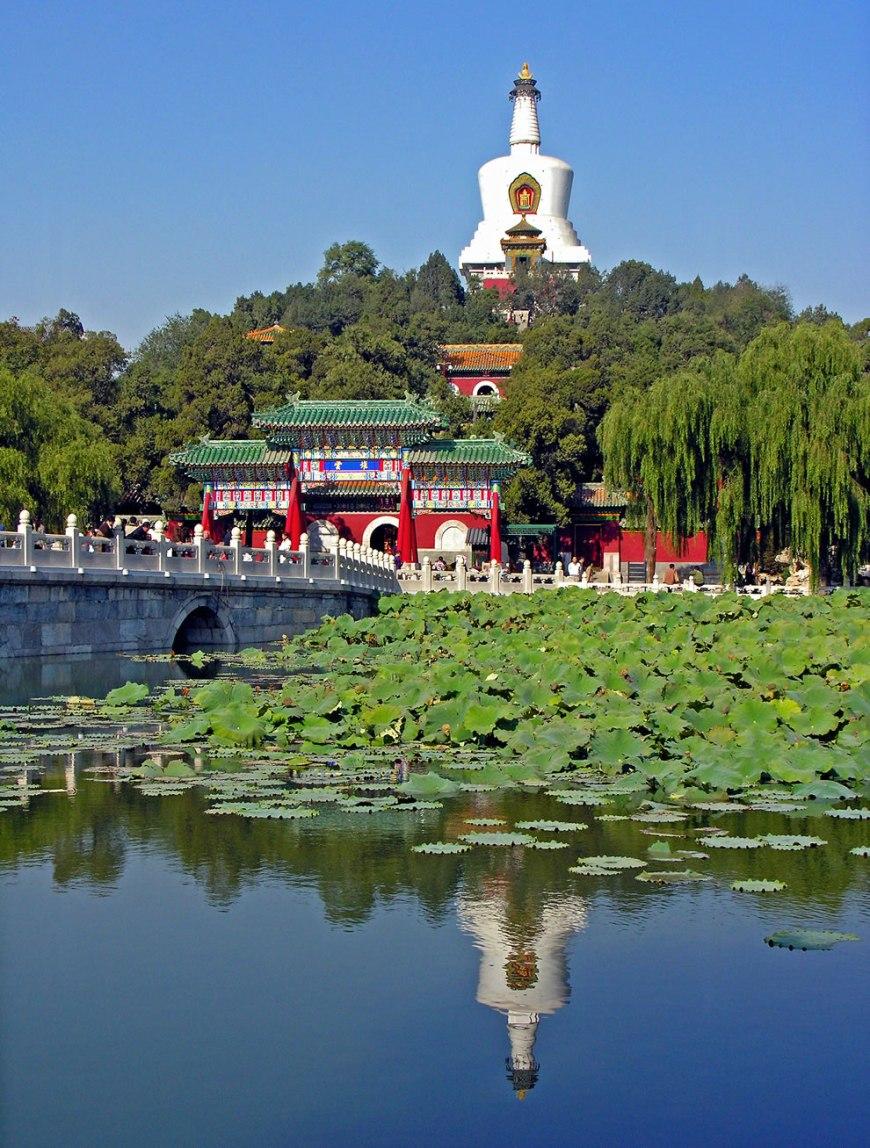 Beihai Park imperial garden in China
