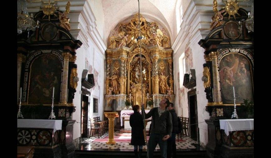 Bled Island - ring bell for good luck inside church