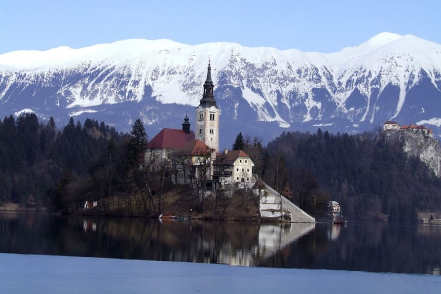Bled lake and Assumption of Mary Pilgrimage Church