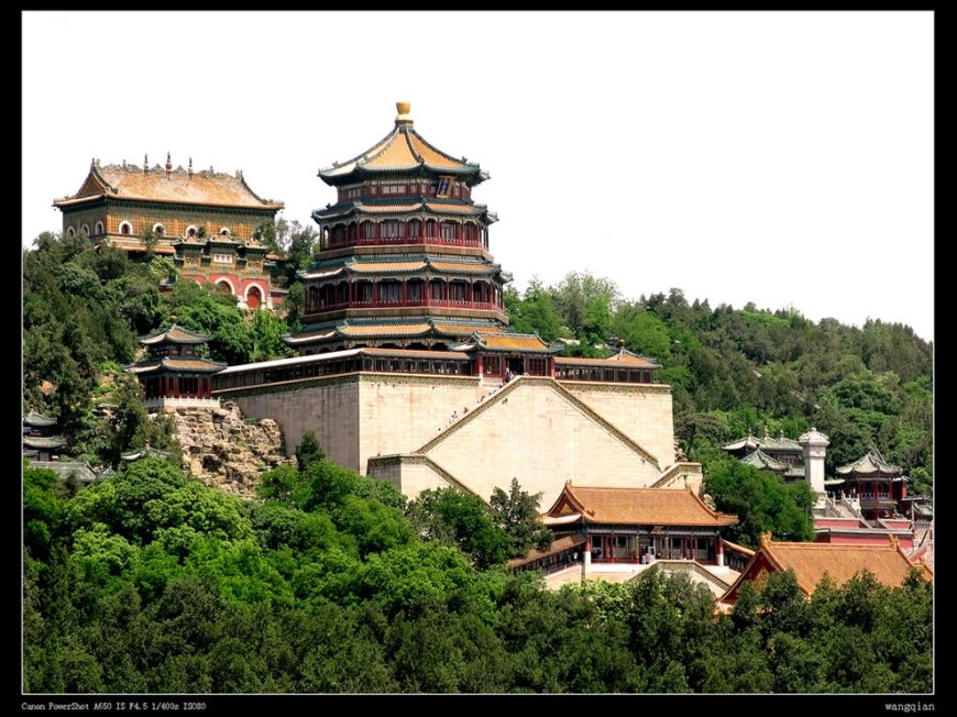 Chinese imperial gardens with the Summer Palace