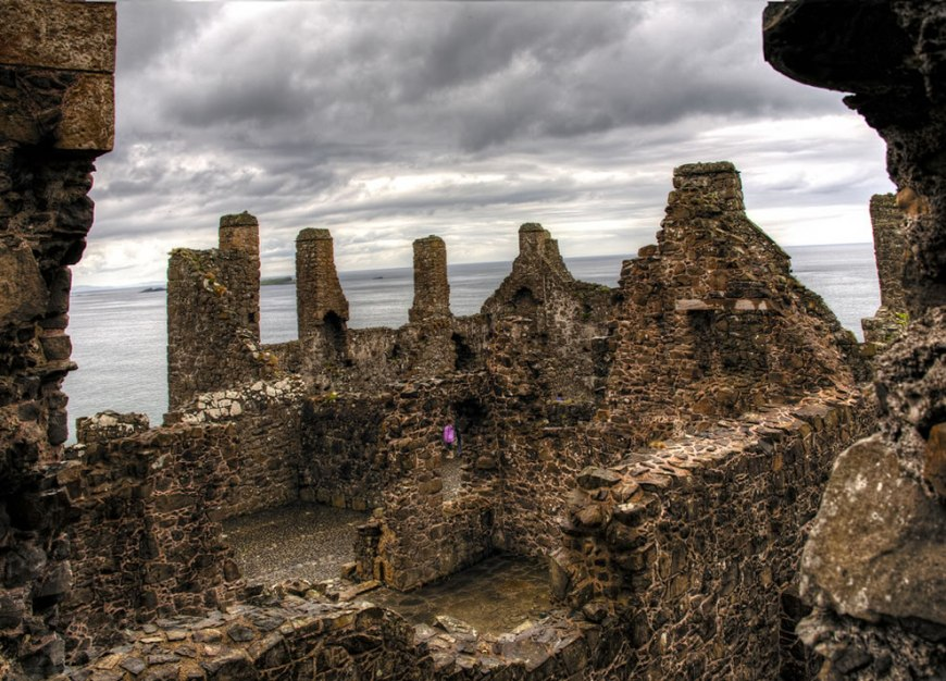 inside the ruins of Dunluce Castle now