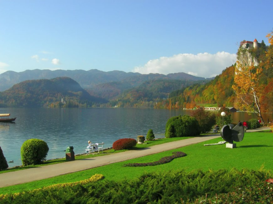 Lake Bled with castle
