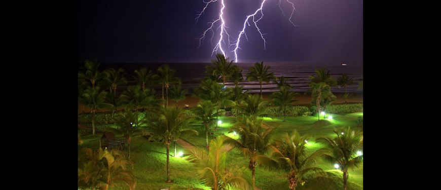 Lightning on Brazil Beach