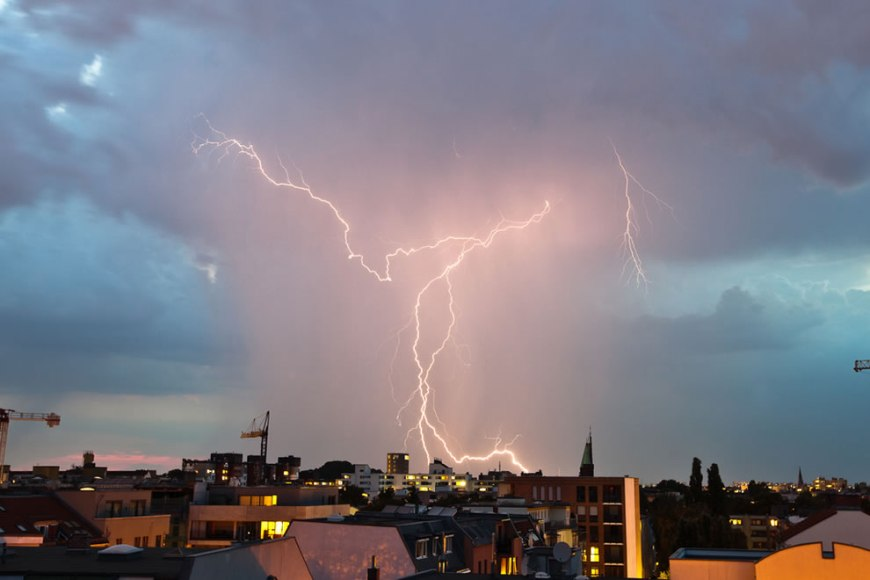 Lightning storm over Berlin