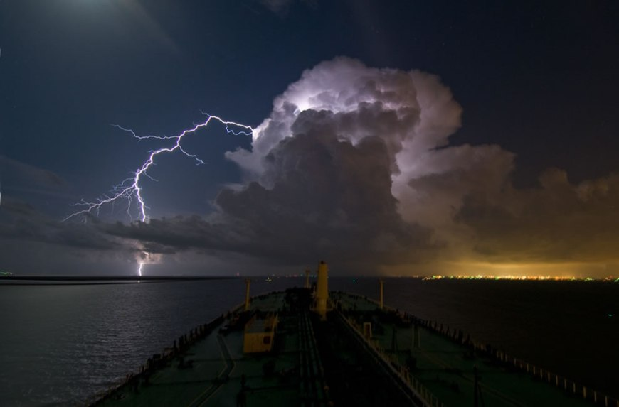 Night Thunderstorm  Lightning