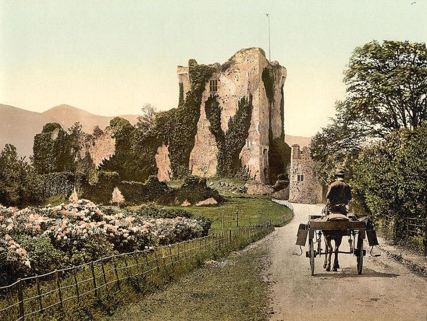 Ross Castle, II, Killarney Photochrom prints--Color--1890s Ireland