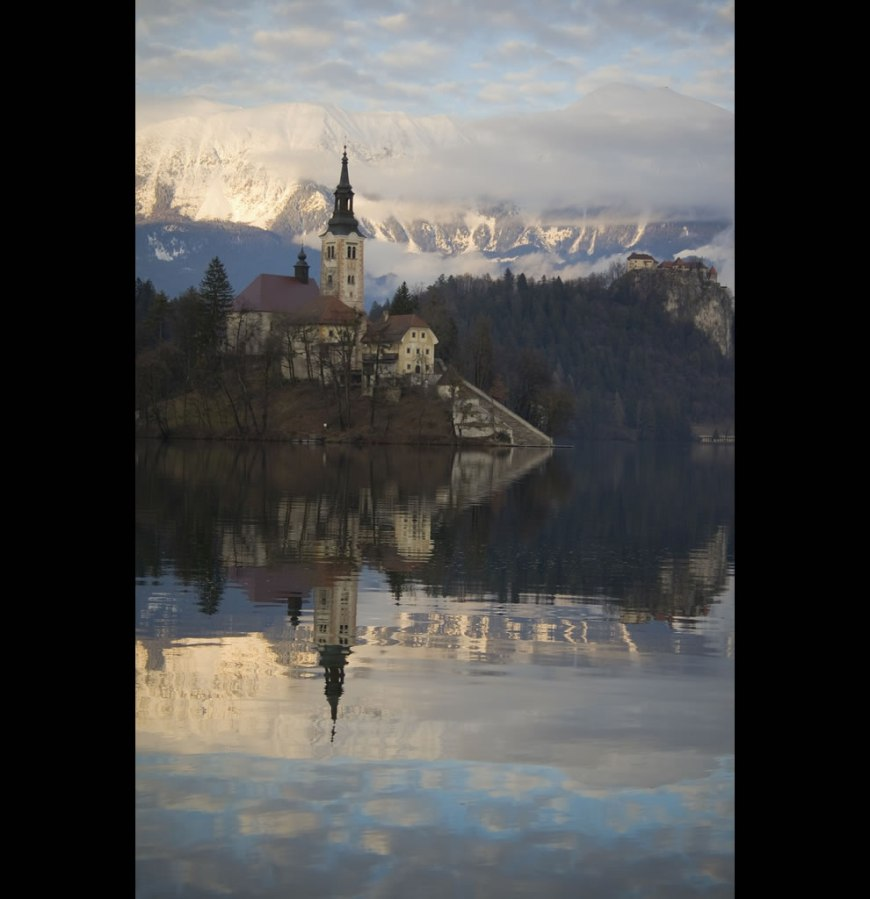 scenic route to church on Bled Island