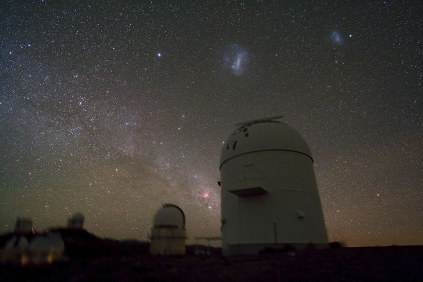 Telescope Domes Clustered at La Silla