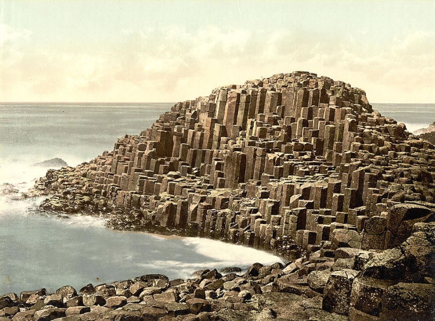 The Honeycombs, Giant's Causeway. County Antrim, Ireland Photochrom prints--Color--1890