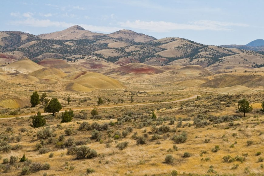 At Painted Hills in the John Day Fossil Beds National Monument in Oregon