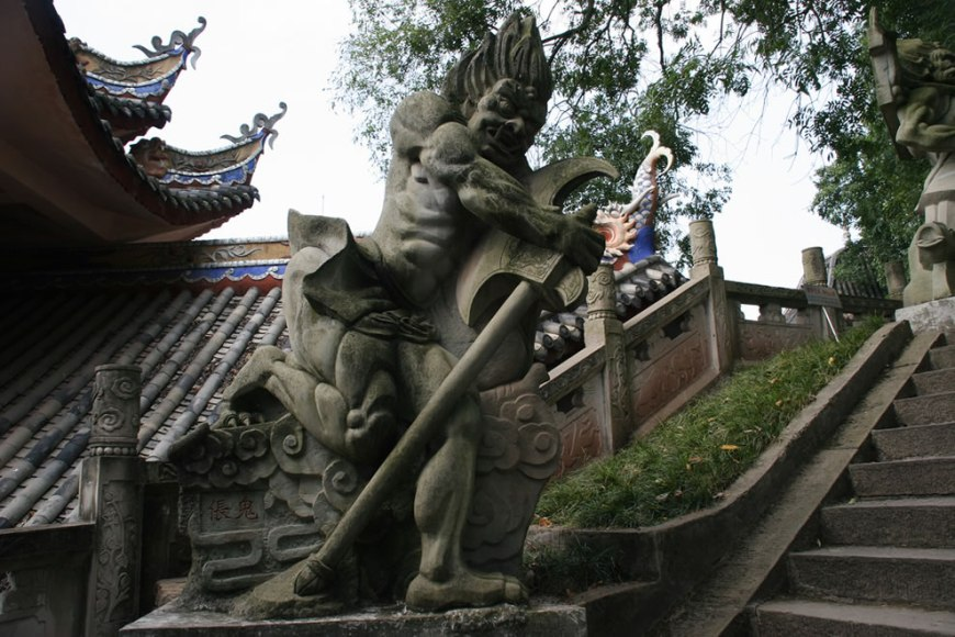 Big Demon Ghost - Fengdu - Another of the Big Ghosts guarding the steps leading up to the Pass to Hell