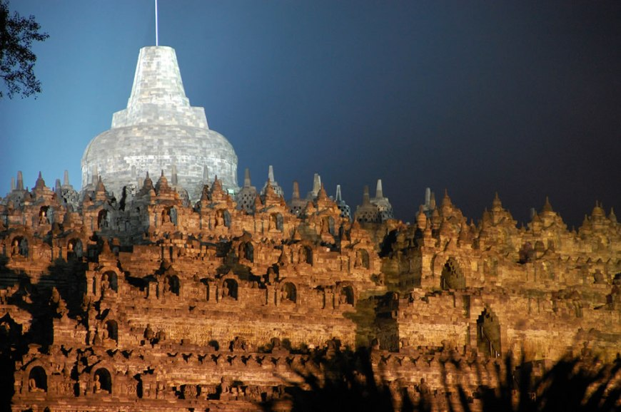 Borobudur at night