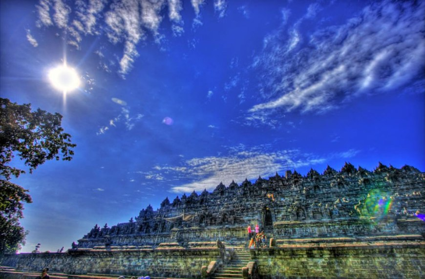 Borobudur from North side after sunrise