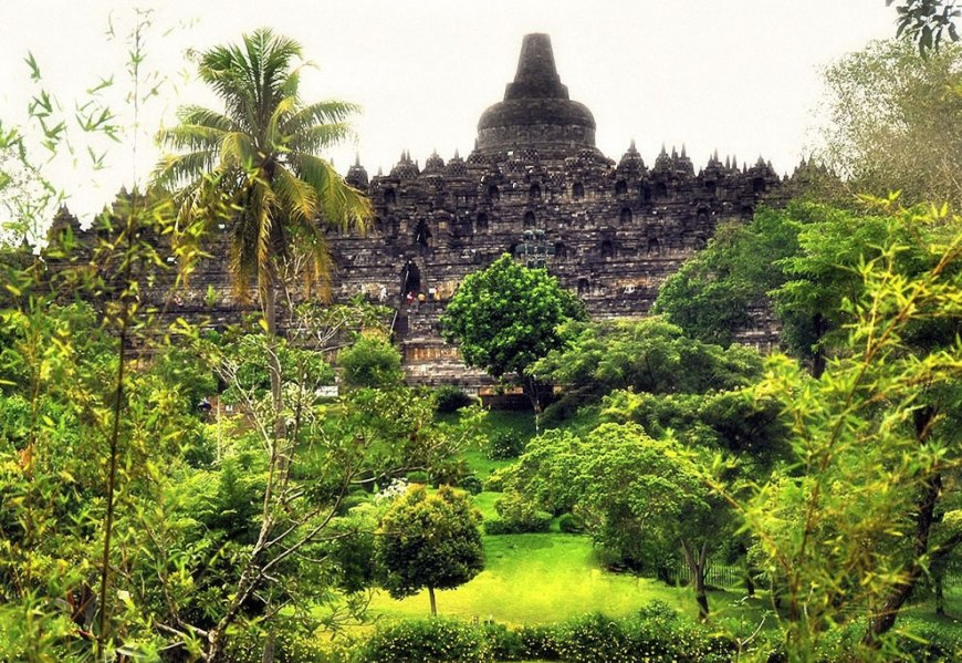 Borobudur lay hidden for centuries under layers of volcanic ash and jungle growth, but the reason why it was abandoned is a mystery