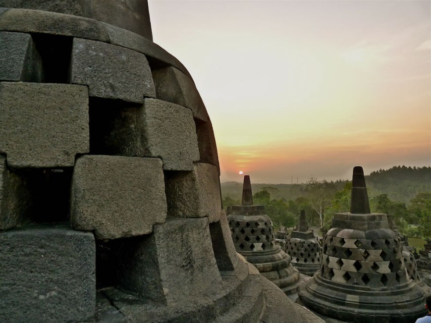 Borobudur was abandoned following the fourteenth century decline of Buddhist and Hindu kingdoms in Java