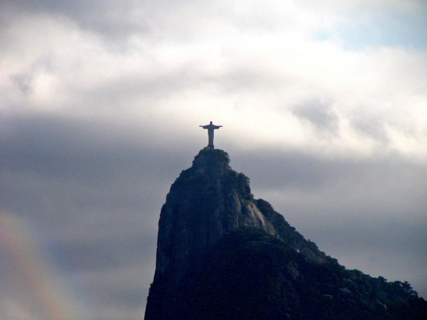 Christ the Redeemer with Rainbow