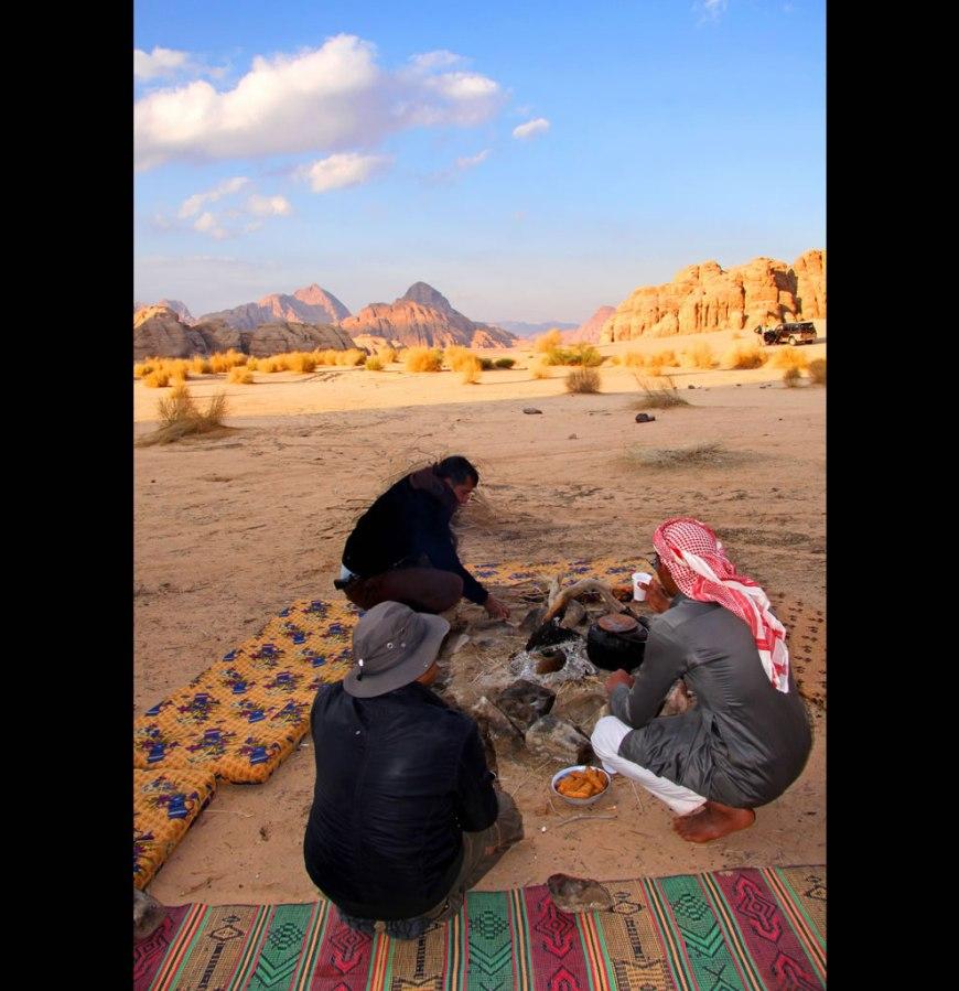 desert tour guides at wadi rum