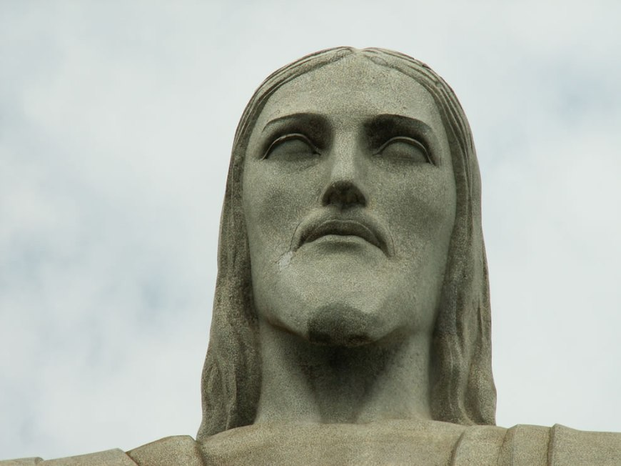 Face of Cristo Redentor statue