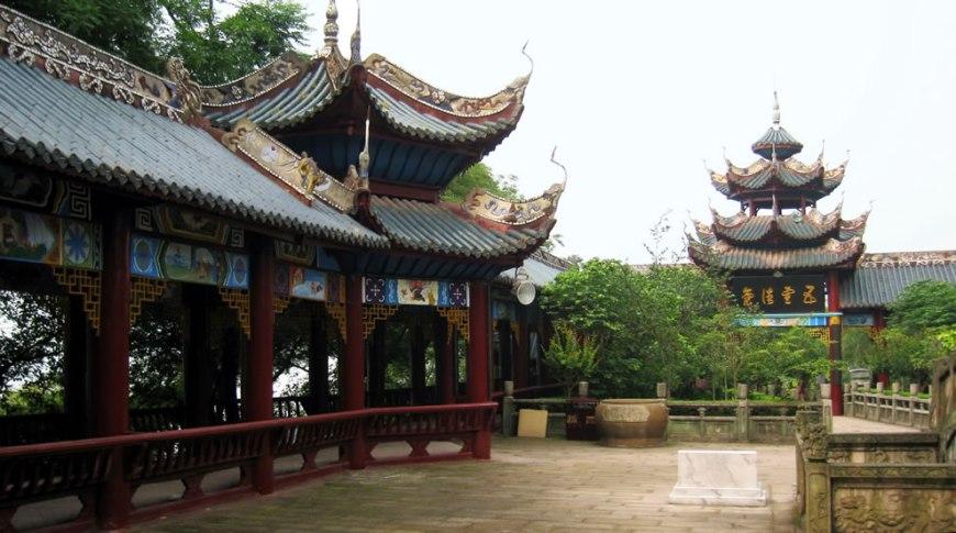 Fengdu ghost town square