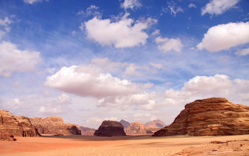 In Jordan, the desert called Wadi Rum is also known as Valley of the Moon