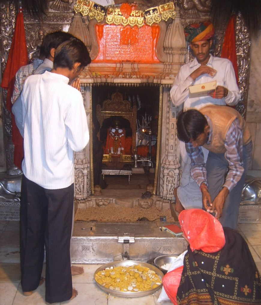 Karni Mata temple, in the Bikaner district