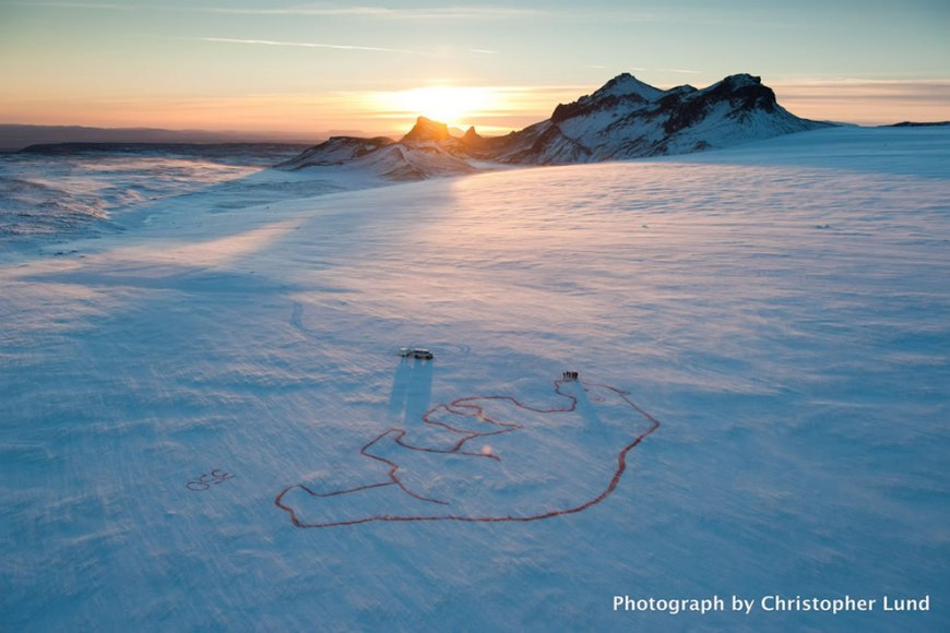Red Polar Bear Iceland
