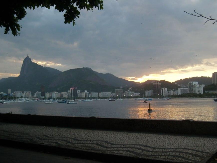 Rio de Janeiro's Jesus Christ seen by Urca