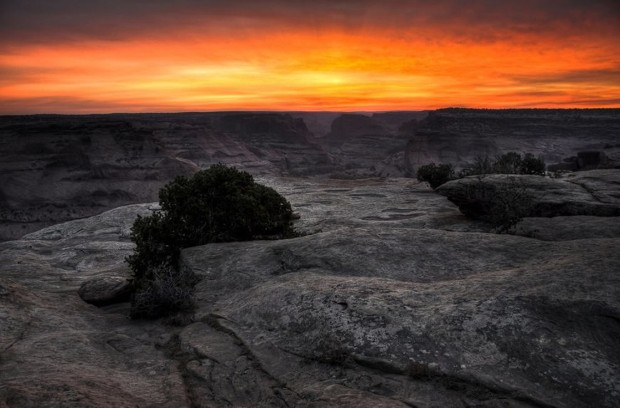 Sunrise at Canyon de Chelly viewpoint Arizona