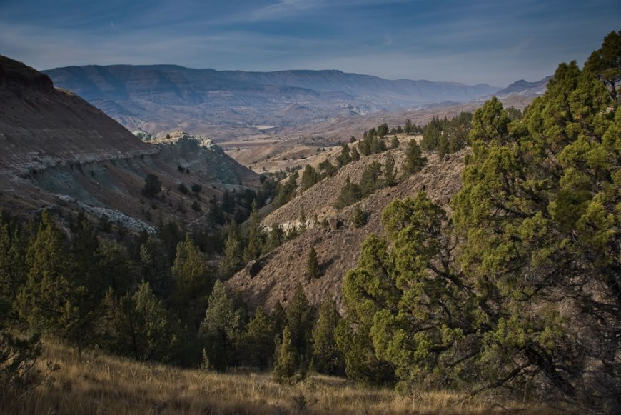 Views from blue basin trail in the Sheep Rock Unit of the John Day Fossil Beds National Monument