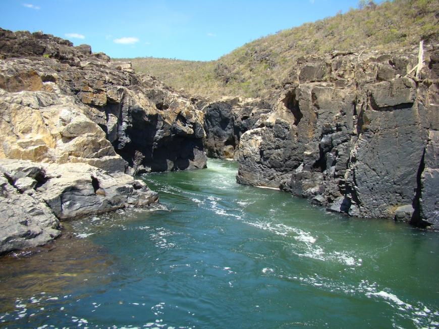 water at Chapada dos Veadeiros
