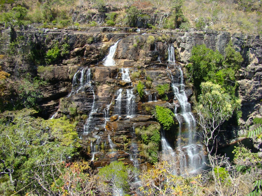 waterfall at Chapada dos Veadeiros