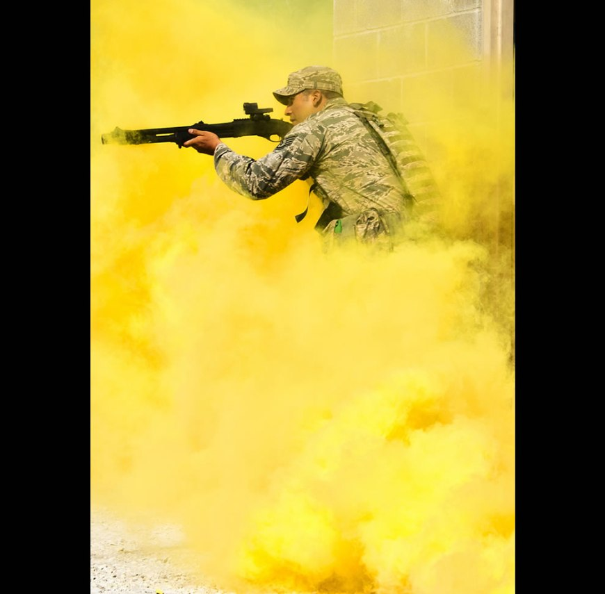 "assault demonstration of Air Force Materiel Command's ""Brave Defender"""