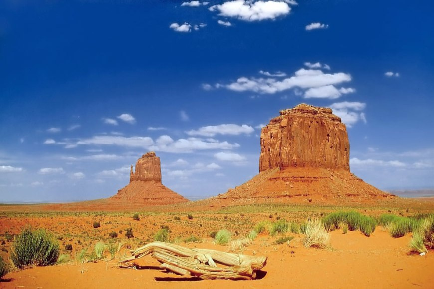 East Mitten and Merrick Butte at Monument Valley