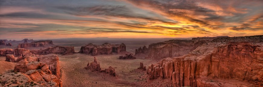 Hunt's Mesa Sunrise Panorama