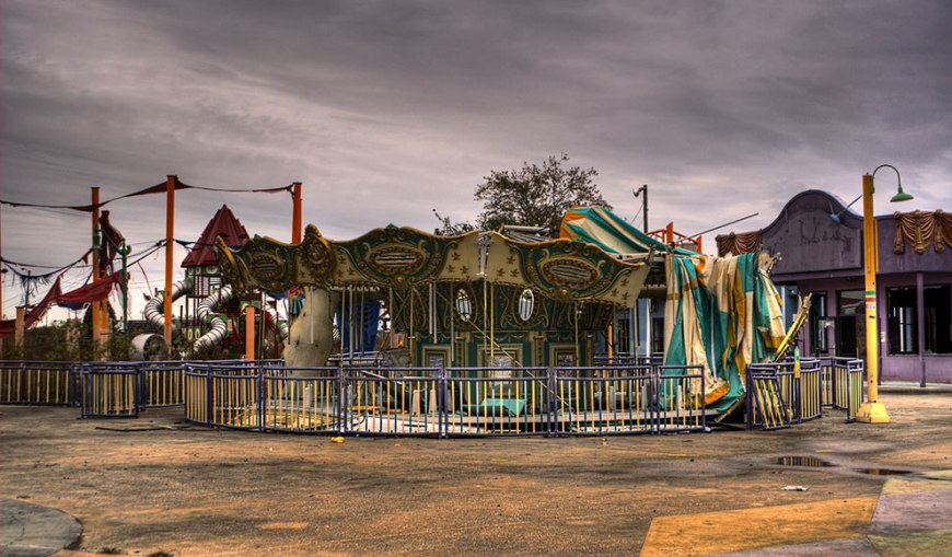 Infrequent diversion abandoned Six Flags - New Orleans