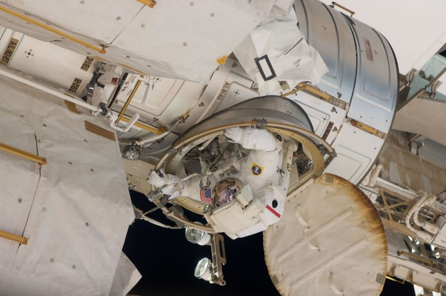 May 20 Day 5 NASA astronaut Andrew Feustel ingresses the airlock hatch on the ISS