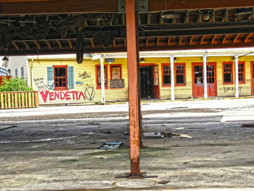 V is for Vendetta - against Katrina at abandoned Six Flags