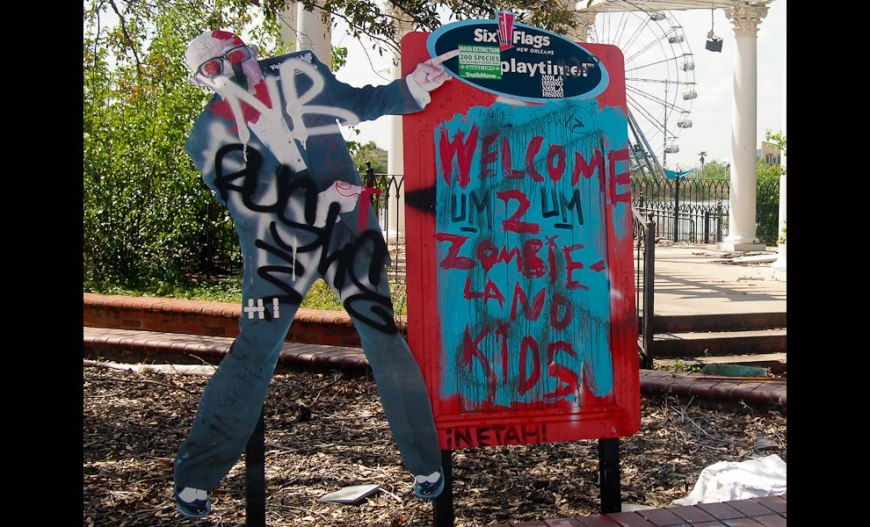 Welcome to zombie land aka abandoned Six Flags New Orleans