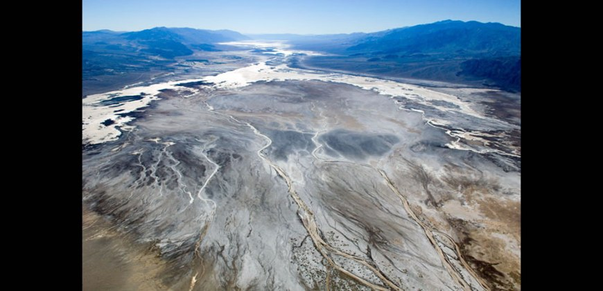 Aerial view of Death Valley