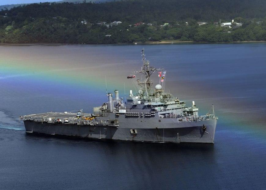 Amphibious transport dock ship USS Cleveland