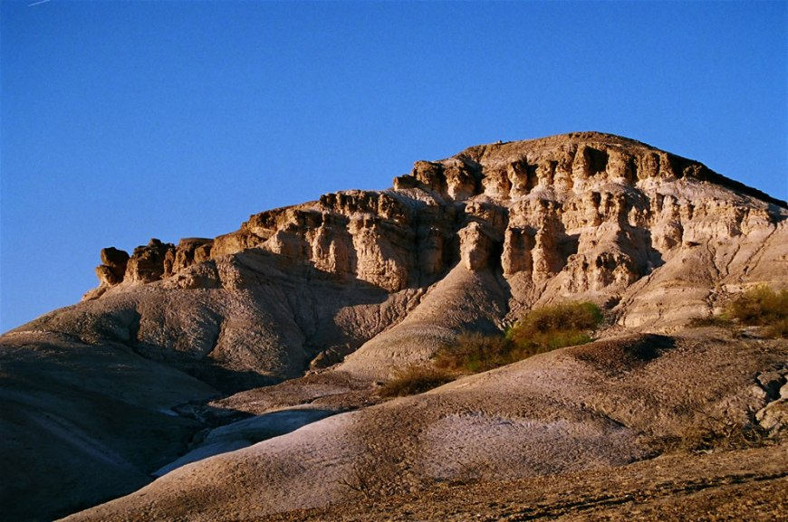 An eroded rock formation near Furnace Creek, Death Valley