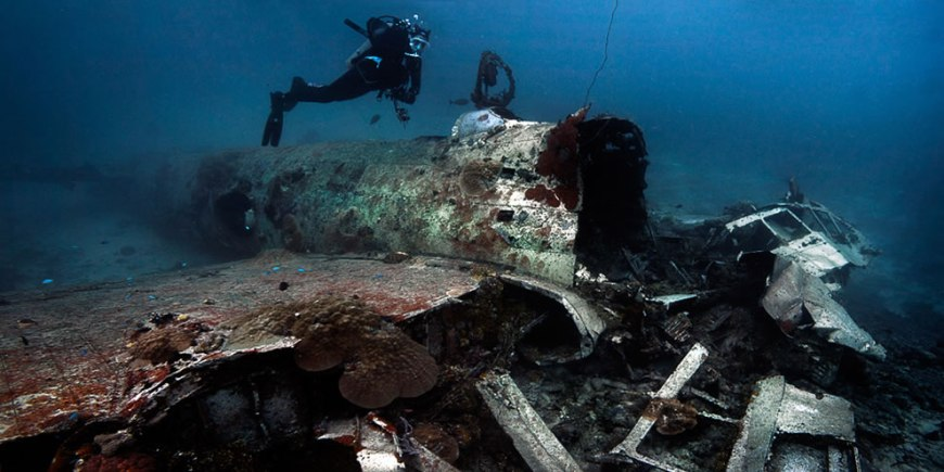 Betty Mitsubishi Attack bomber. Truk lagoon - 20m deep