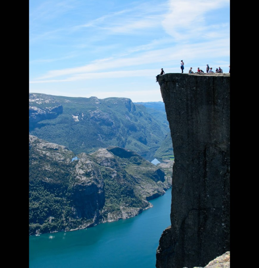 Cliff of Norway - Preikestolen The Preacher's Pulpit