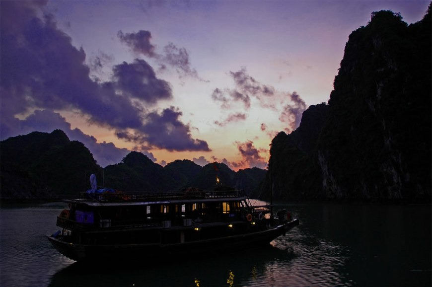 Halong Bay At Dusk