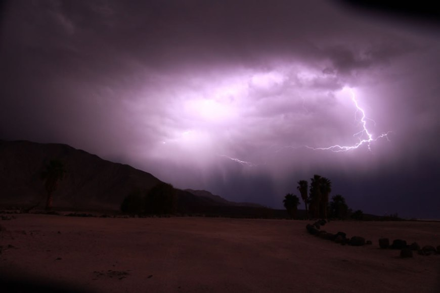 Lightning Storm at Saline Valley - Death Valley National Park