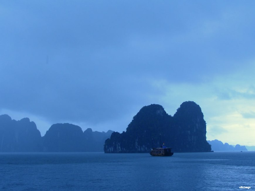 Rain at Ha Long Bay