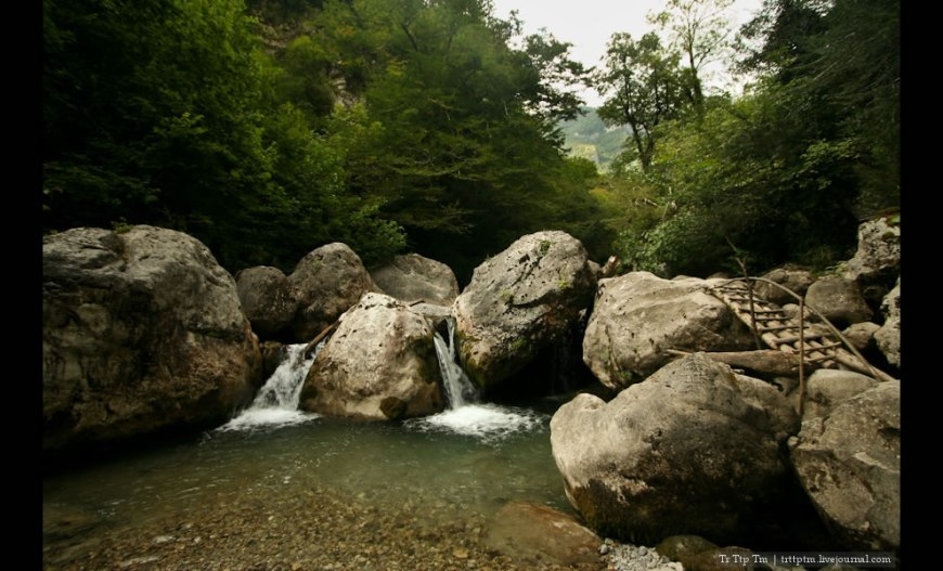 river Zhoekvara scenic view near Gagra